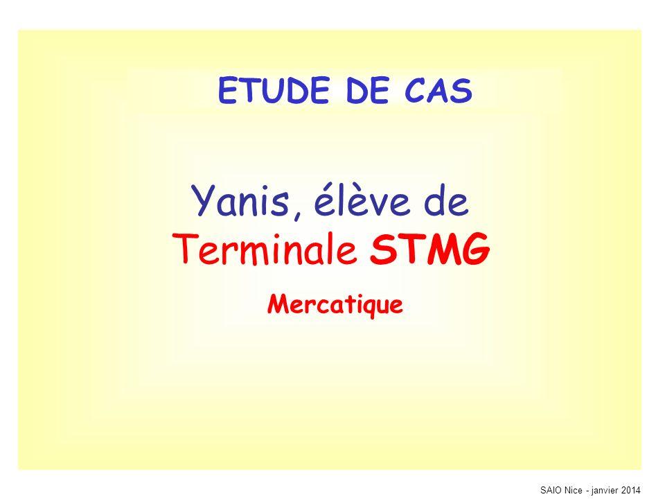 Yanis, élève de Terminale STMG Mercatique