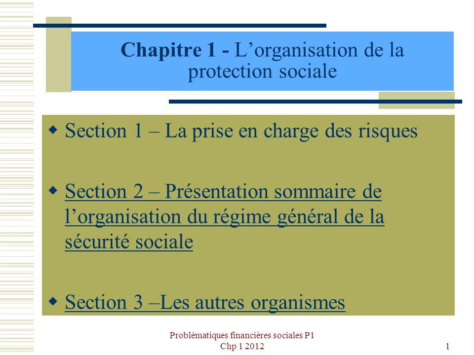 Chapitre 1 - L'organisation de la protection sociale