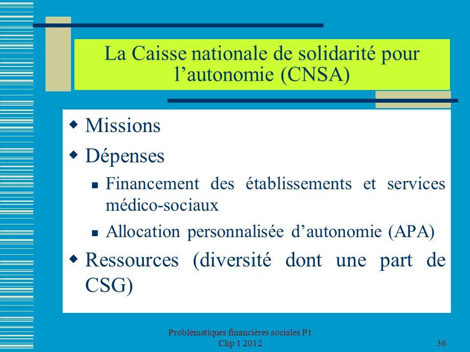 La Caisse nationale de solidarité pour l'autonomie (CNSA)