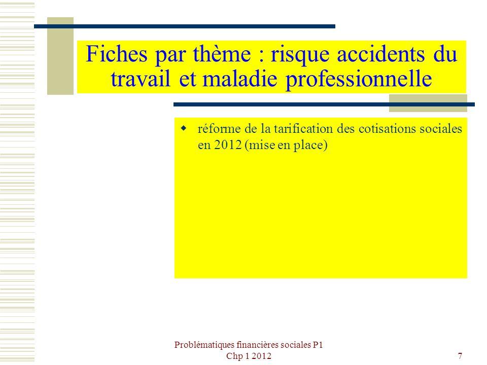 Problématiques financières sociales P1 Chp 1 2012