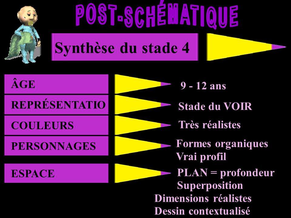 POST-SCHÉMATIQUE Synthèse du stade 4 Synthèse du stade 2 ÂGE