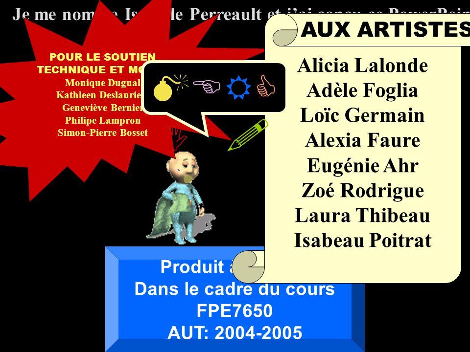 MERCI ! AUX ARTISTES Alicia Lalonde Adèle Foglia Loïc Germain