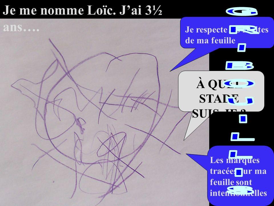 GRIBOUILLIS Je me nomme Loïc. J'ai 3½ ans…. À QUEL STADE SUIS-JE