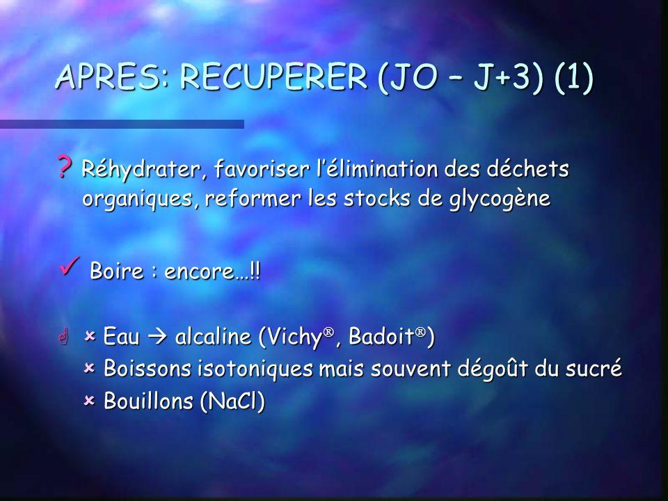 APRES: RECUPERER (JO – J+3) (1)