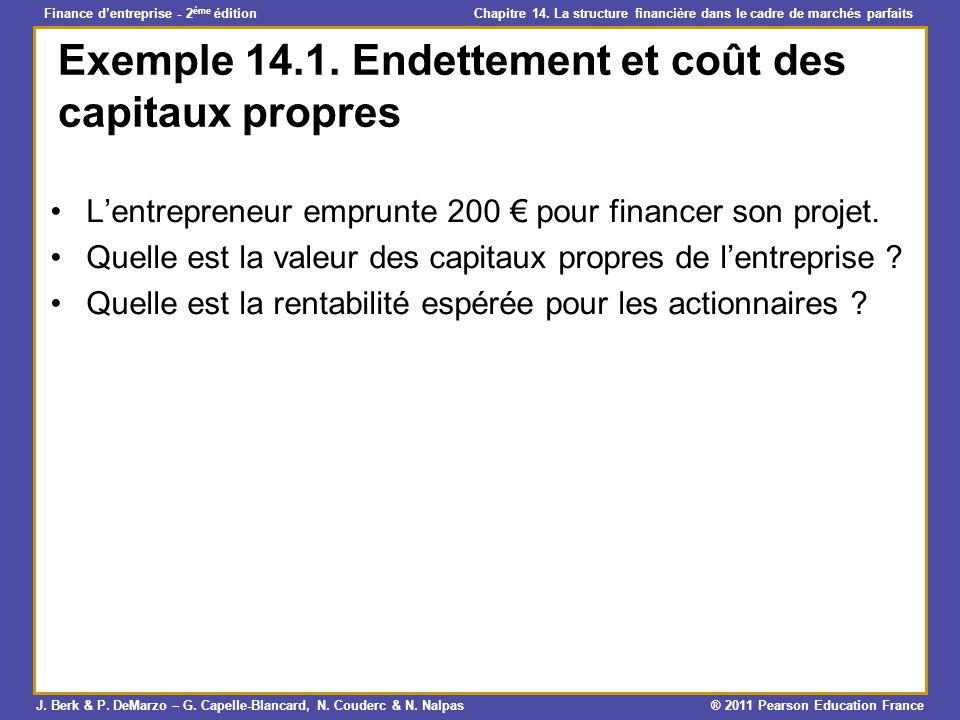 Exemple 14.1. Endettement et coût des capitaux propres