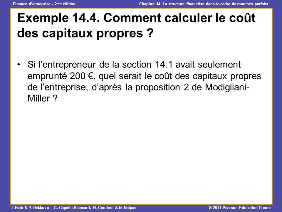 Exemple 14.4. Comment calculer le coût des capitaux propres