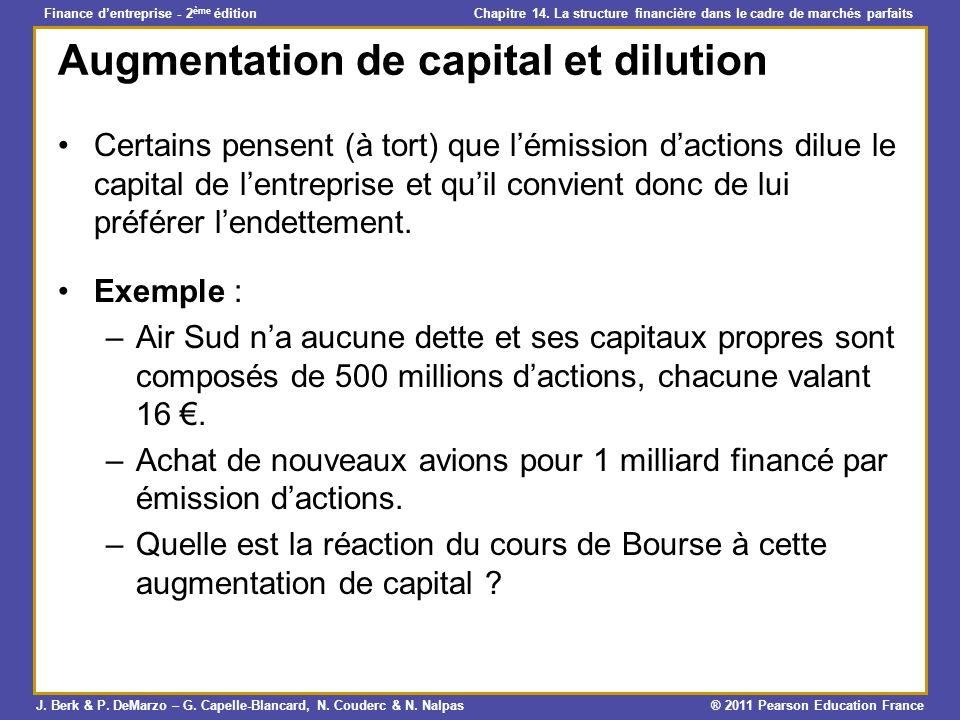 Augmentation de capital et dilution