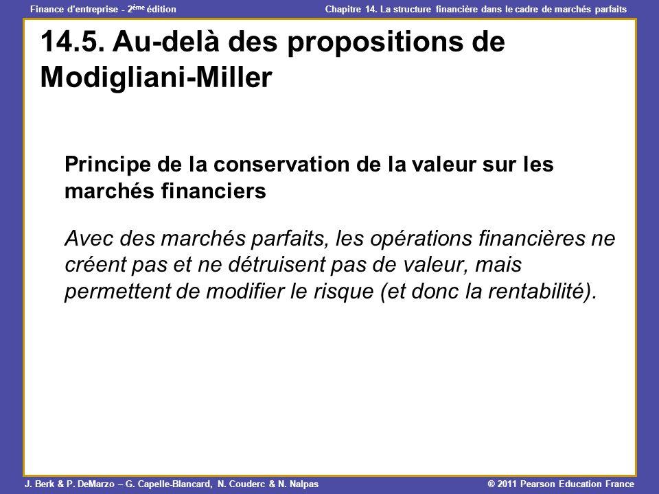 14.5. Au-delà des propositions de Modigliani-Miller