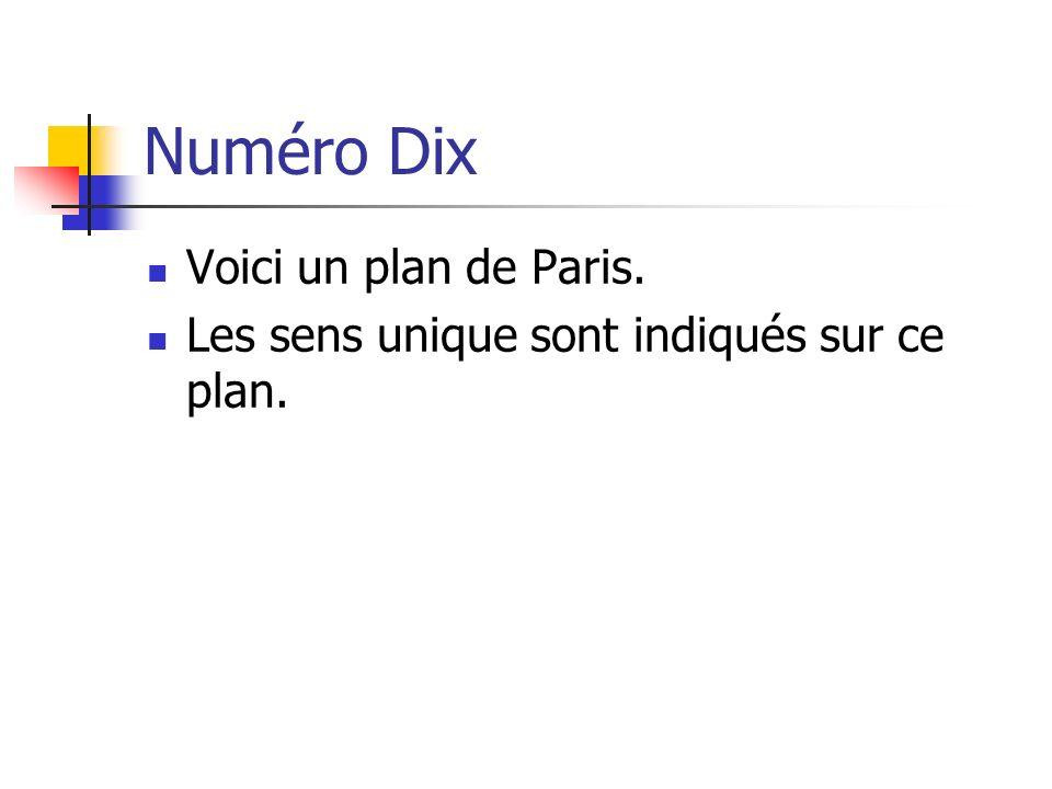 Numéro Dix Voici un plan de Paris.