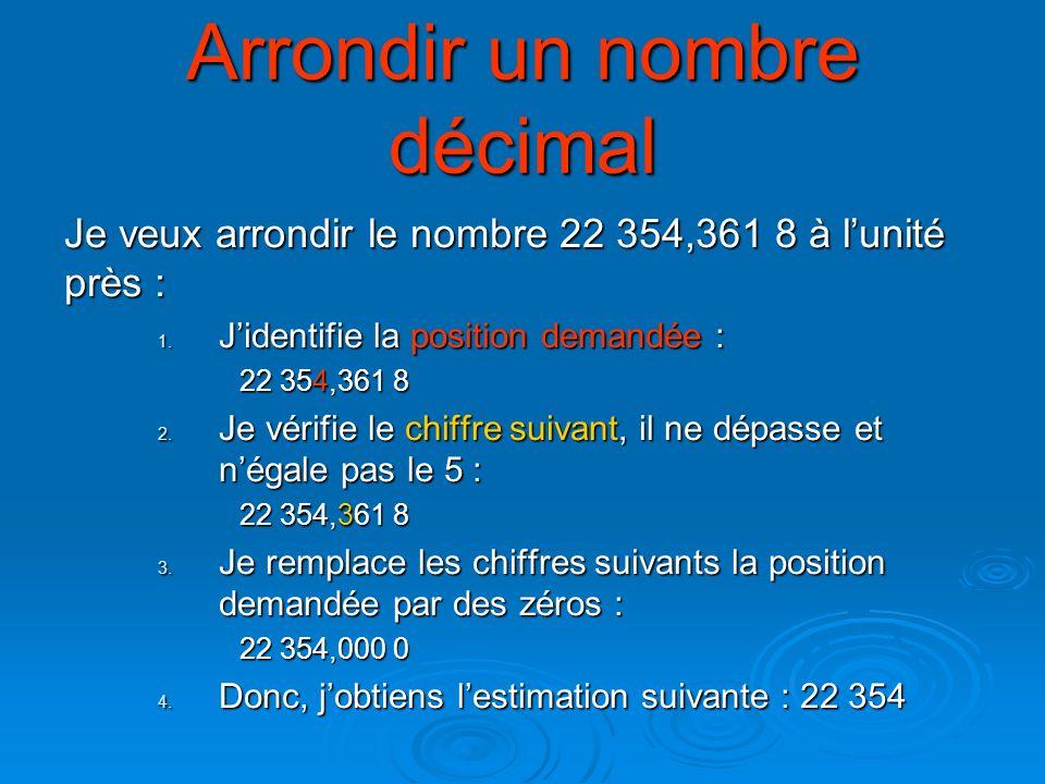 Arrondir un nombre décimal