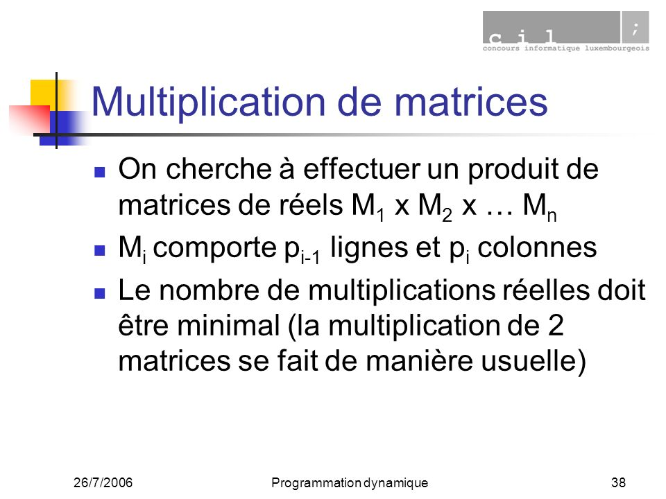 Multiplication de matrices