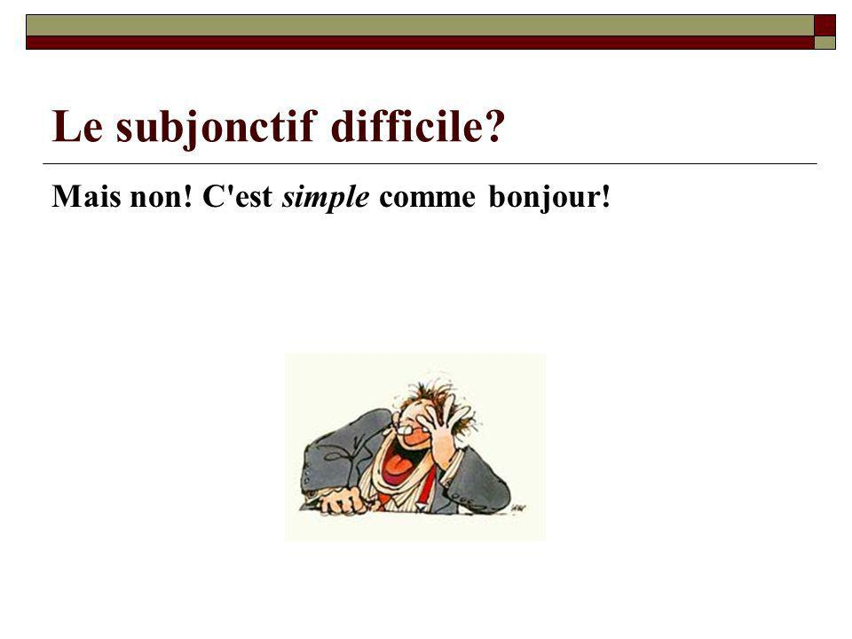 Le subjonctif difficile