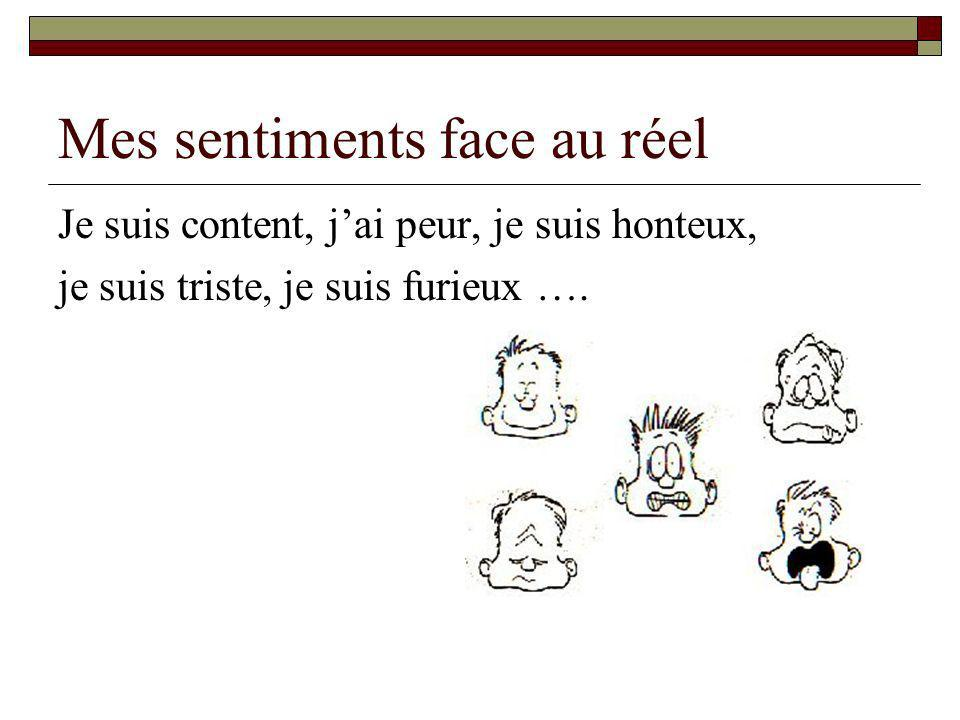 Mes sentiments face au réel