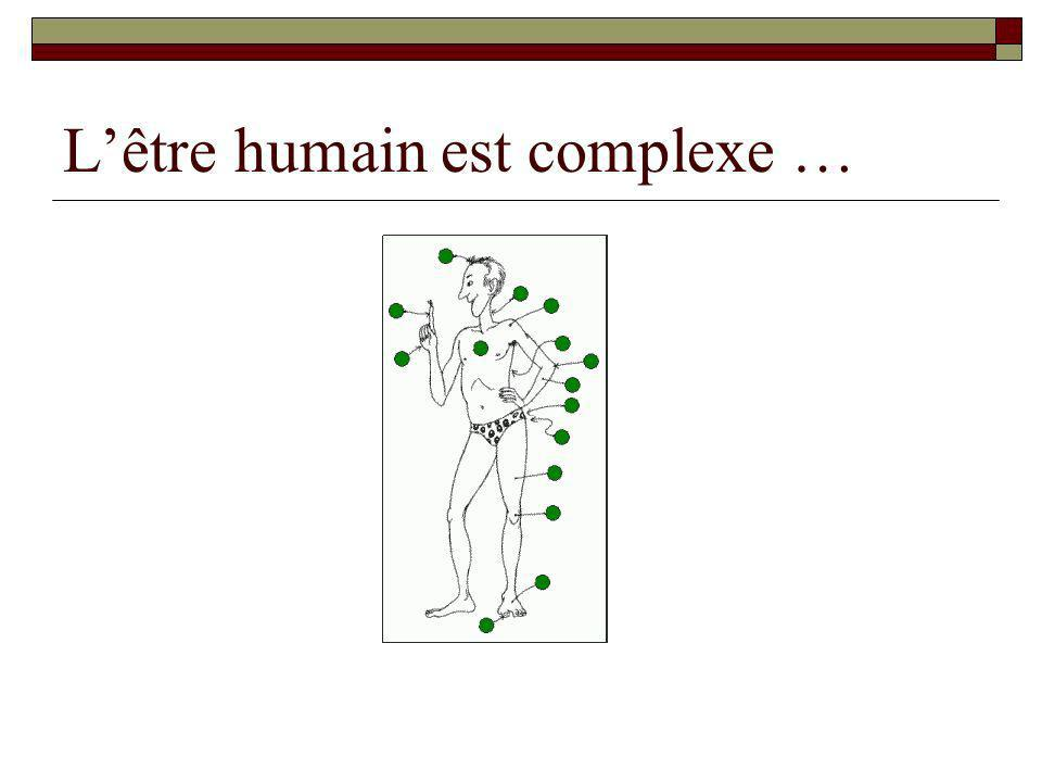 L'être humain est complexe …