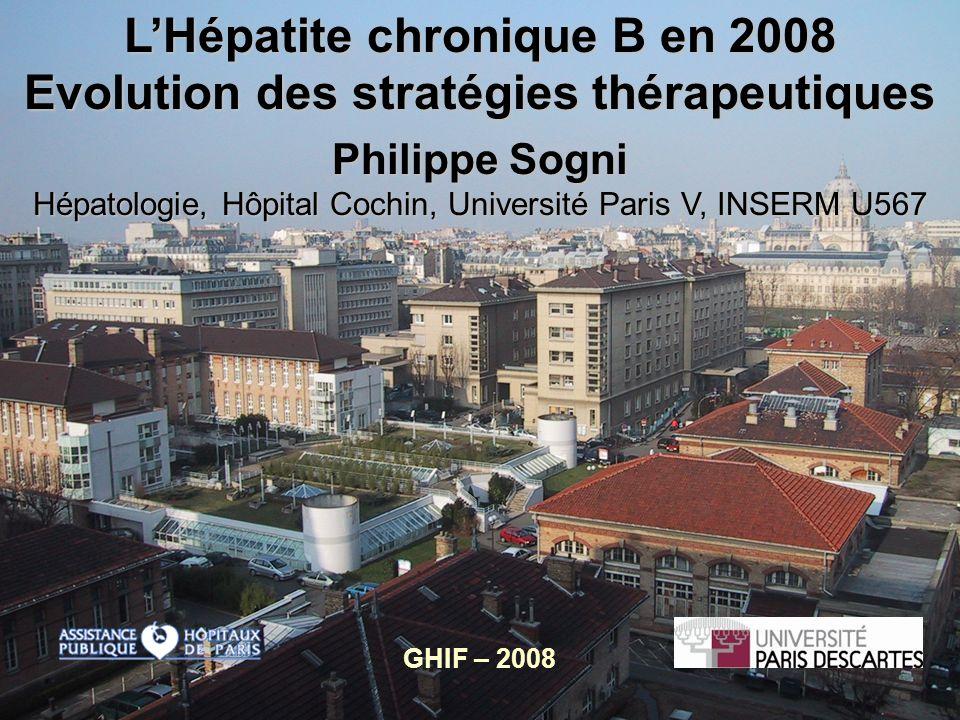 L'Hépatite chronique B en 2008 Evolution des stratégies thérapeutiques