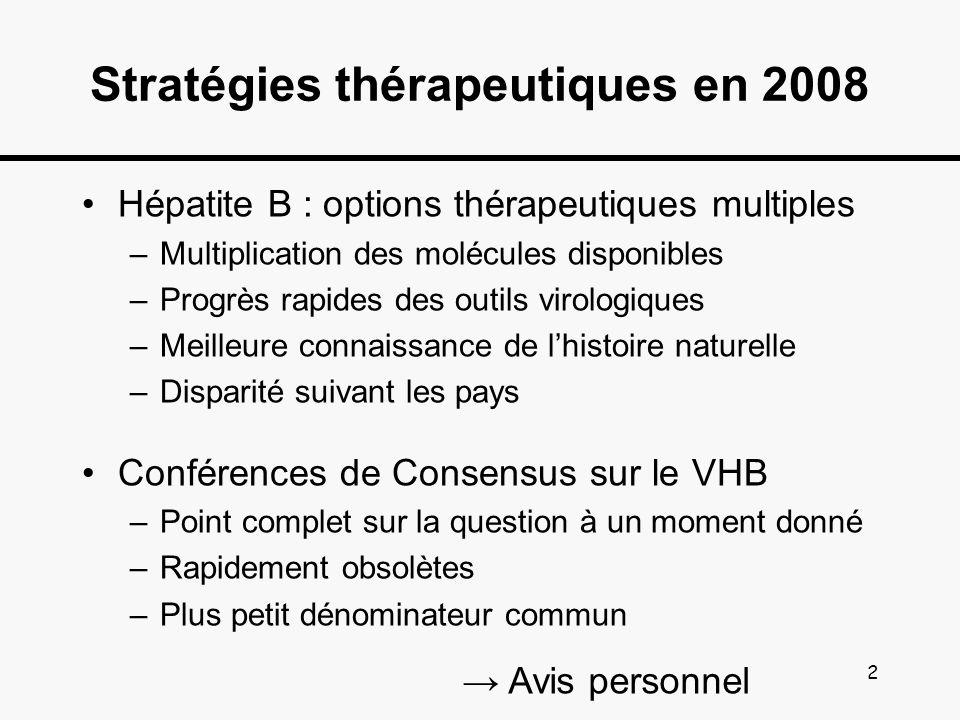 Stratégies thérapeutiques en 2008
