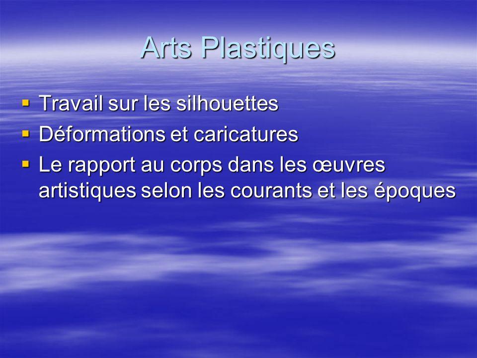 Arts Plastiques Travail sur les silhouettes