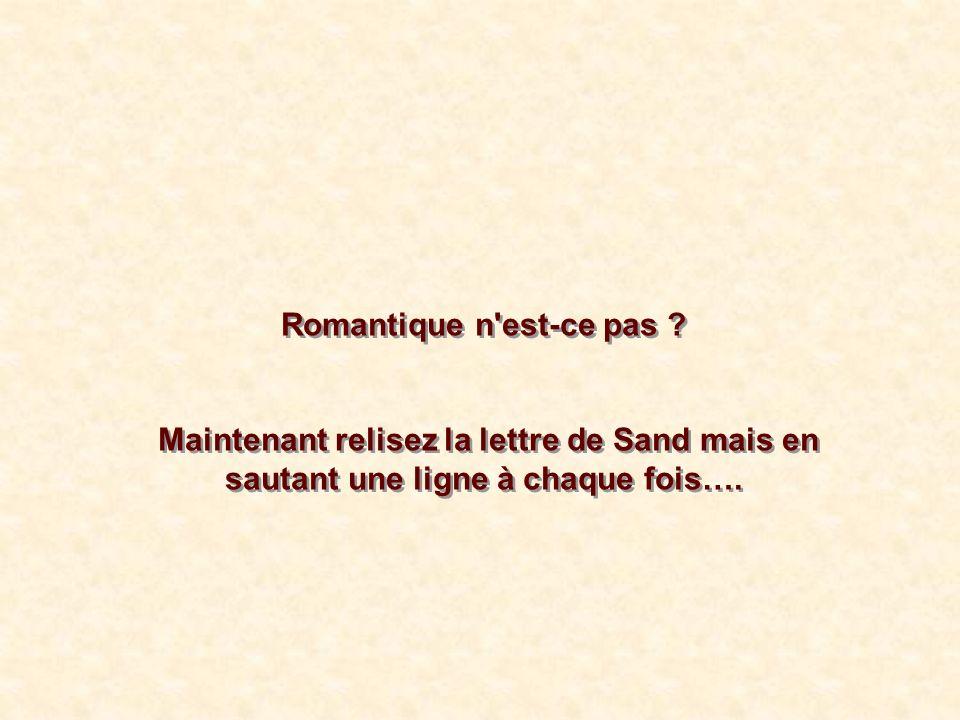 Romantique n est-ce pas