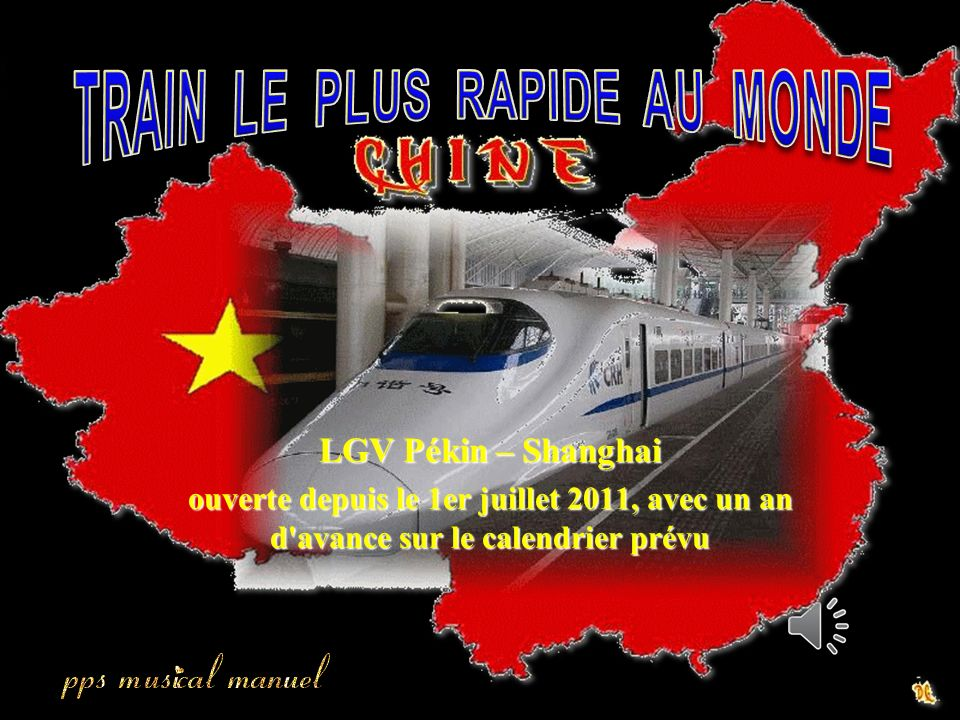 TRAIN LE PLUS RAPIDE AU MONDE