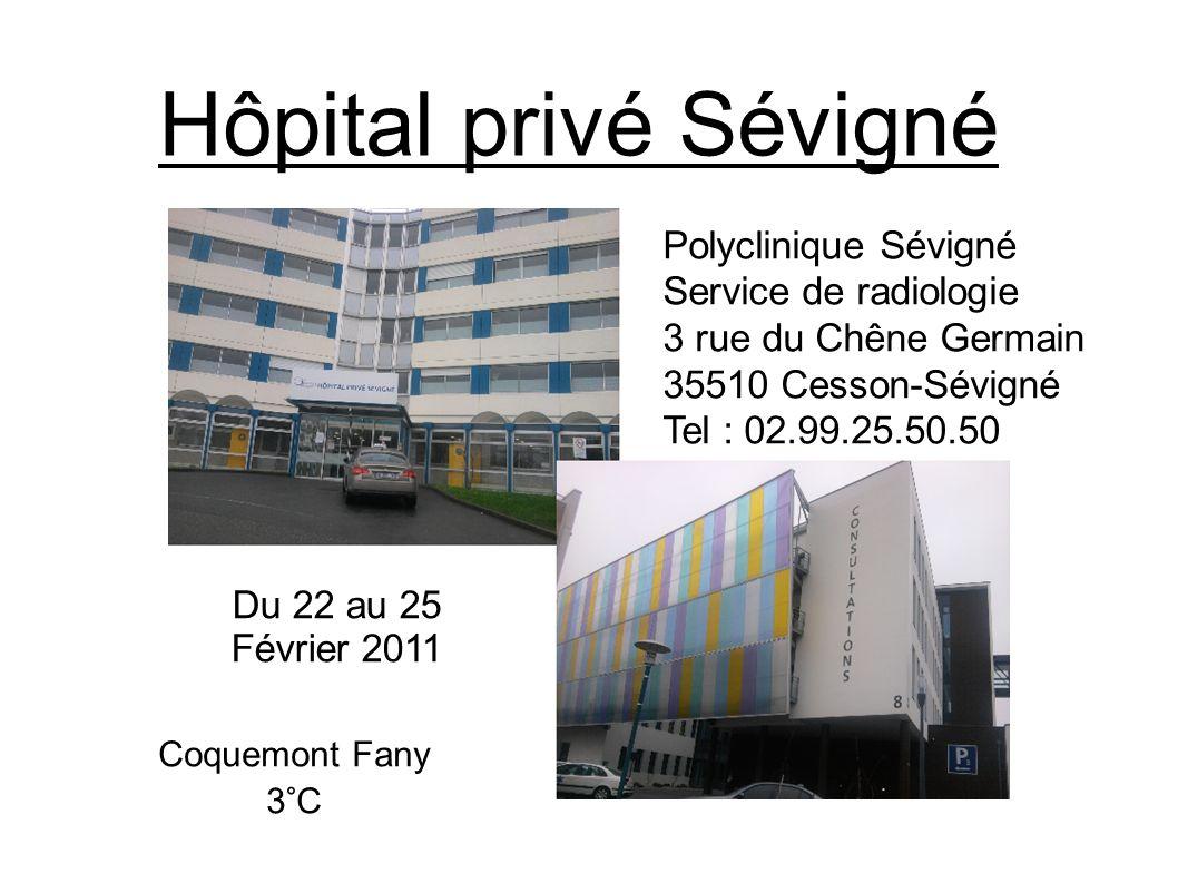 Hôpital privé Sévigné Polyclinique Sévigné Service de radiologie