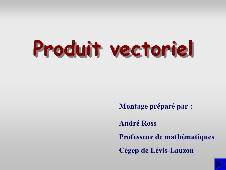 Produit vectoriel Montage préparé par : André Ross
