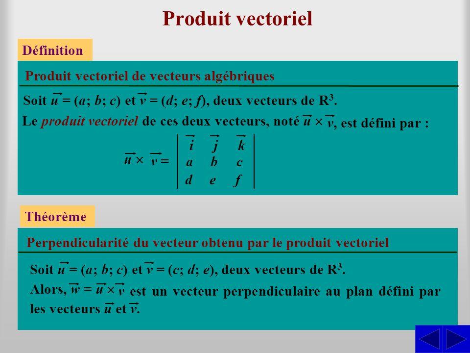 Produit vectoriel S Définition