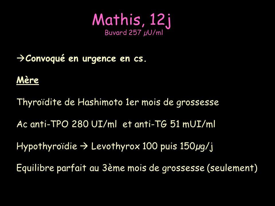 Mathis, 12j Convoqué en urgence en cs. Mère