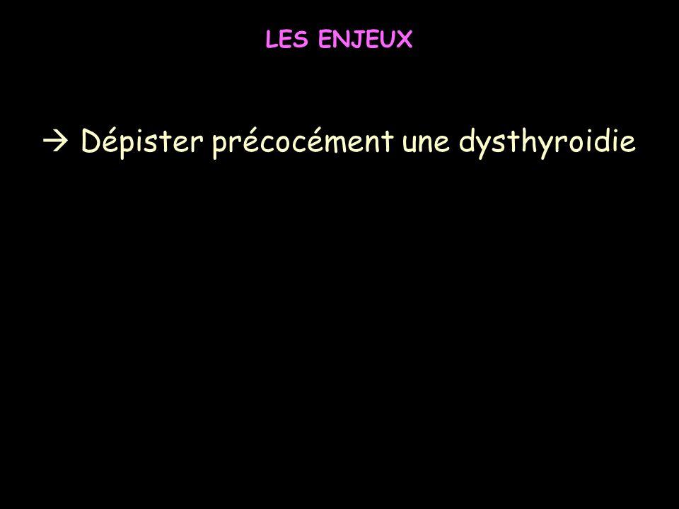  Dépister précocément une dysthyroidie
