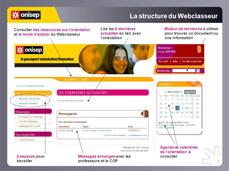 La structure du Webclasseur