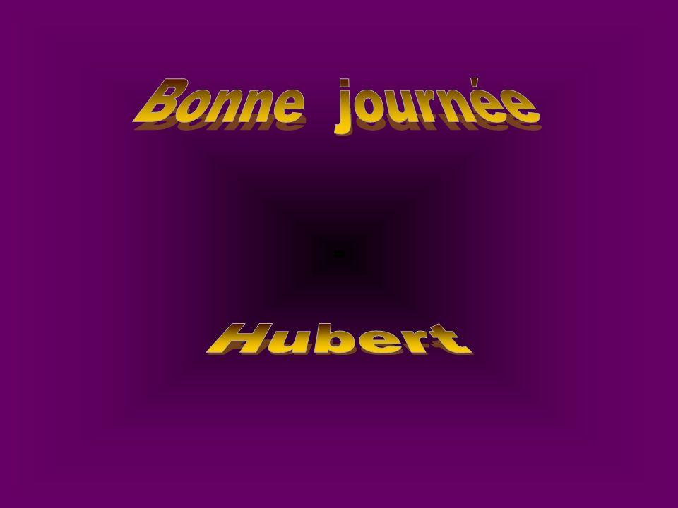 Bonne journée Hubert
