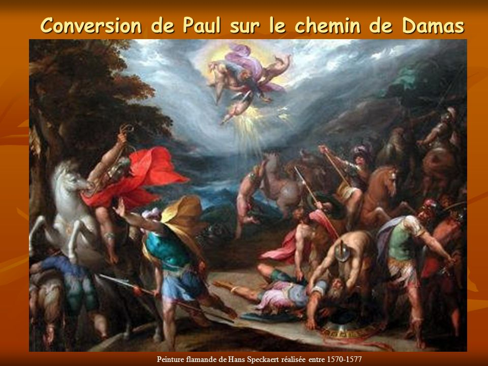 Conversion de Paul sur le chemin de Damas