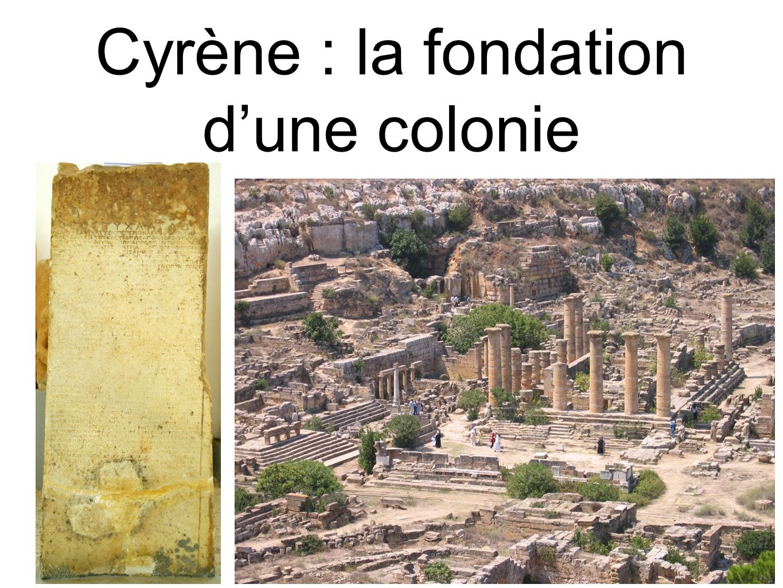 Cyrène : la fondation d'une colonie