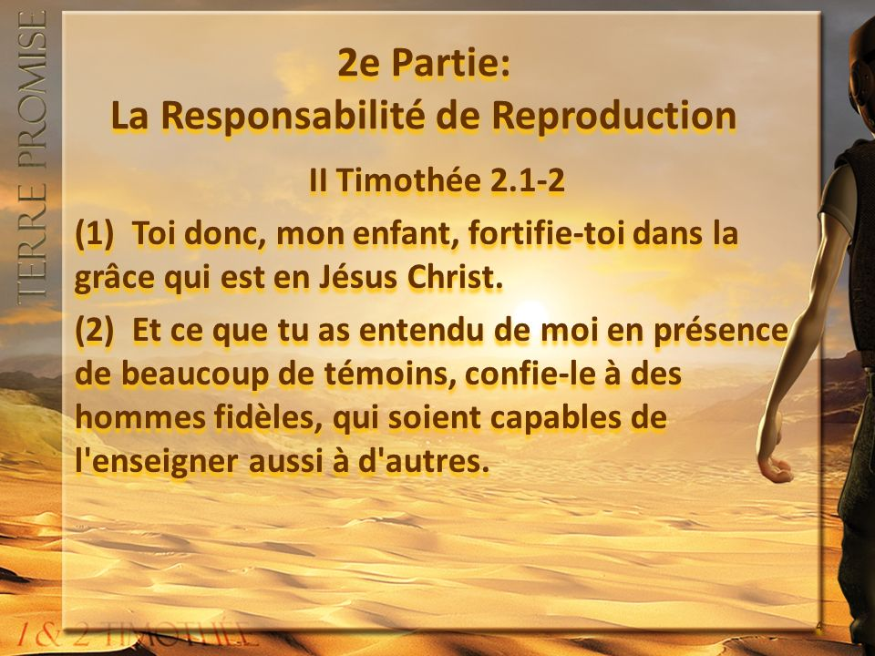2e Partie: La Responsabilité de Reproduction