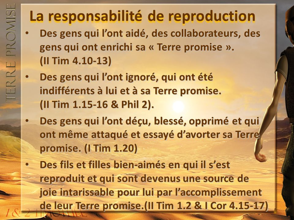 La responsabilité de reproduction