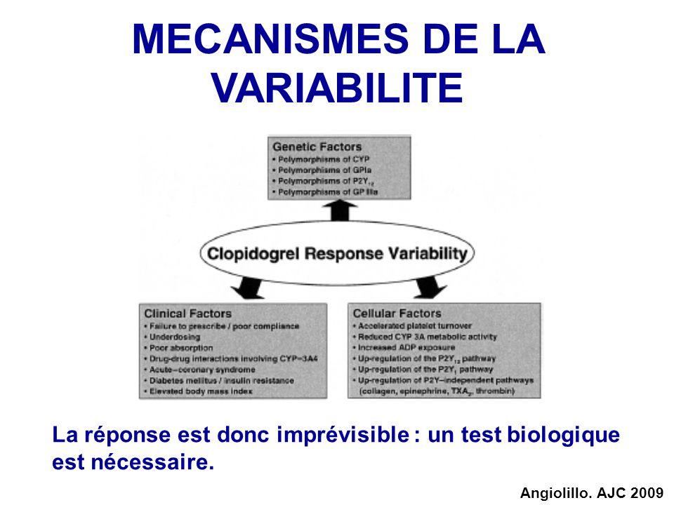 MECANISMES DE LA VARIABILITE