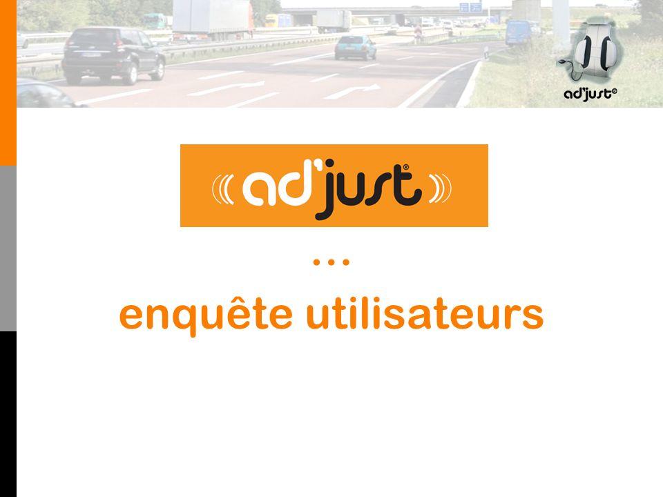 ad'just® … enquête utilisateurs