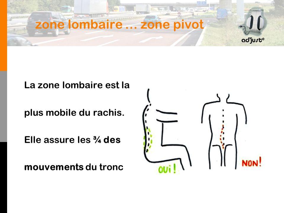 zone lombaire … zone pivot