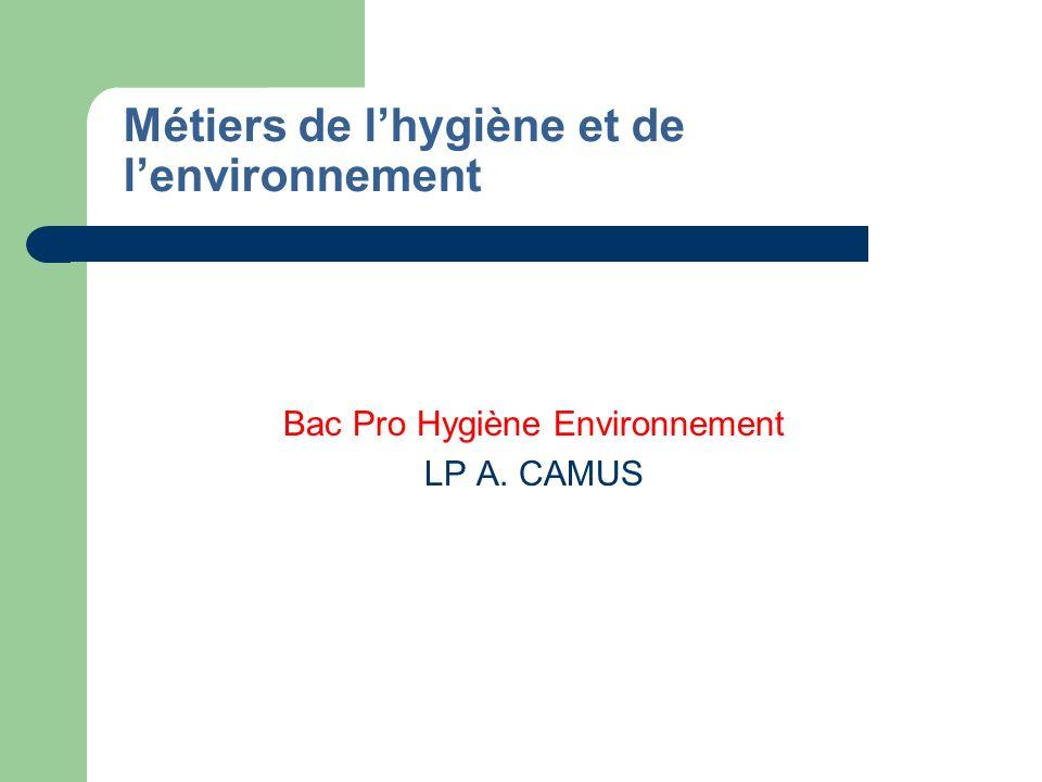 Métiers de l'hygiène et de l'environnement