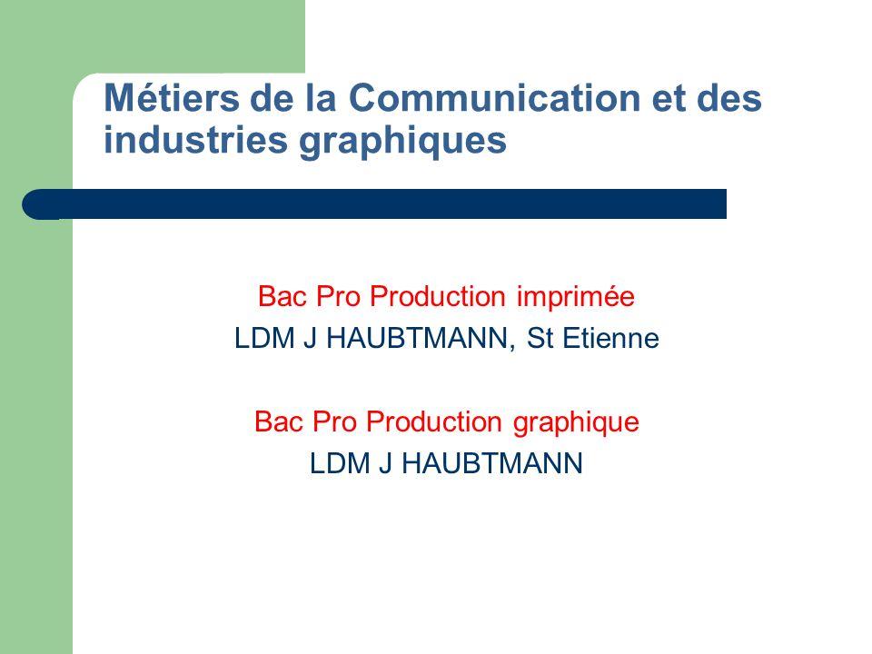 Métiers de la Communication et des industries graphiques