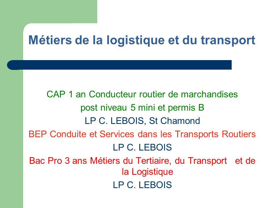 Métiers de la logistique et du transport