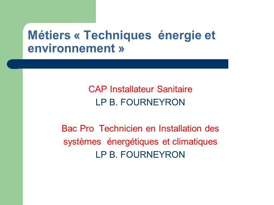 Métiers « Techniques énergie et environnement »