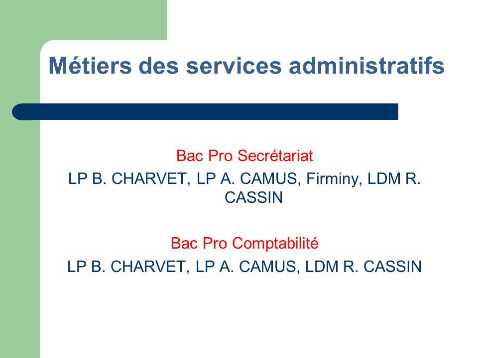 Métiers des services administratifs