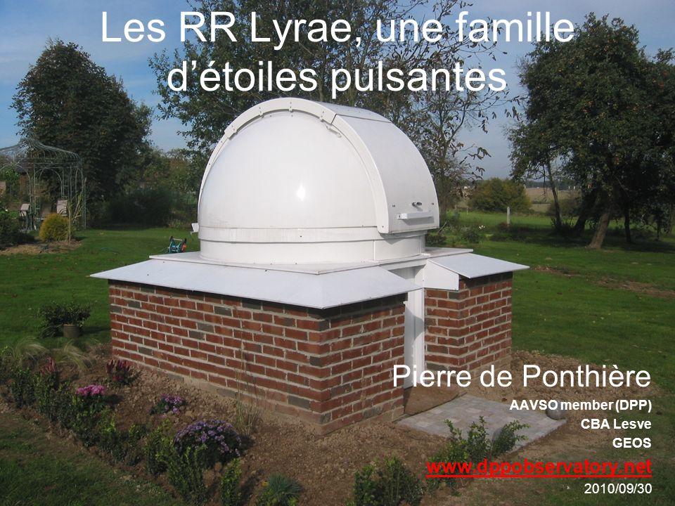 Les RR Lyrae, une famille d'étoiles pulsantes