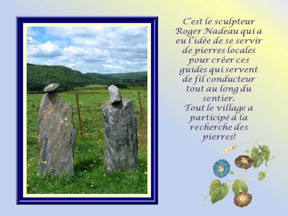 Tout le village a participé à la recherche des pierres!