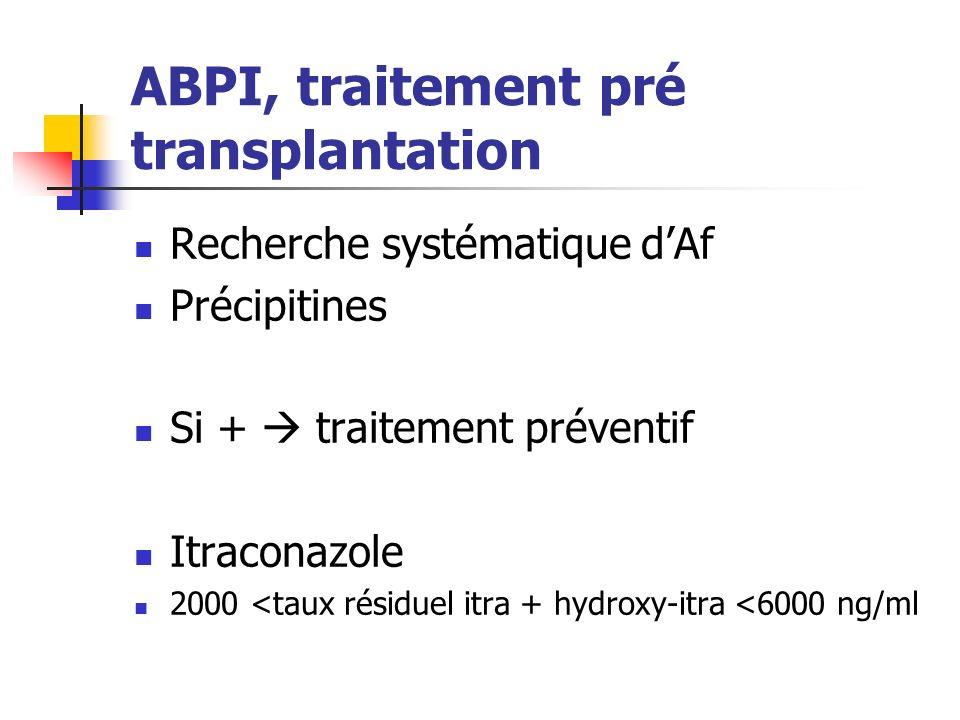 ABPI, traitement pré transplantation