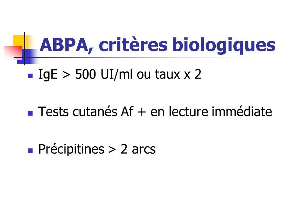 ABPA, critères biologiques