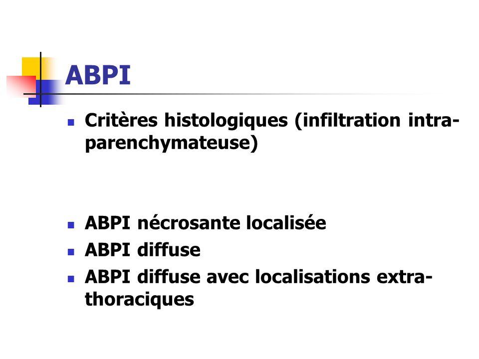 ABPI Critères histologiques (infiltration intra-parenchymateuse)