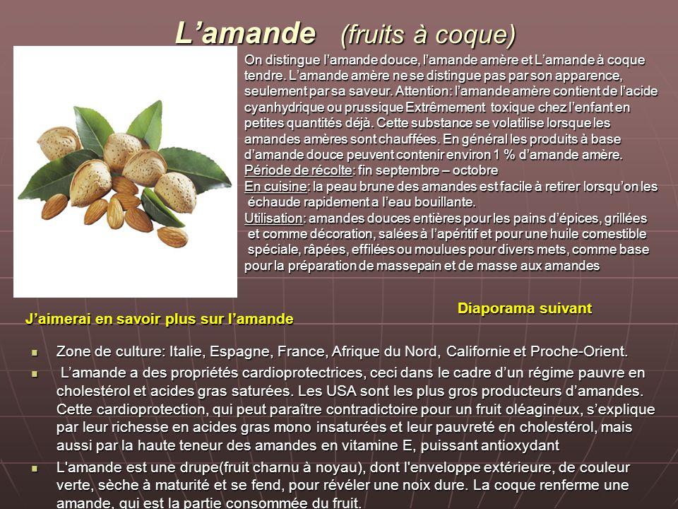 L'amande (fruits à coque)