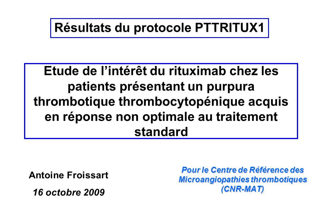 Résultats du protocole PTTRITUX1