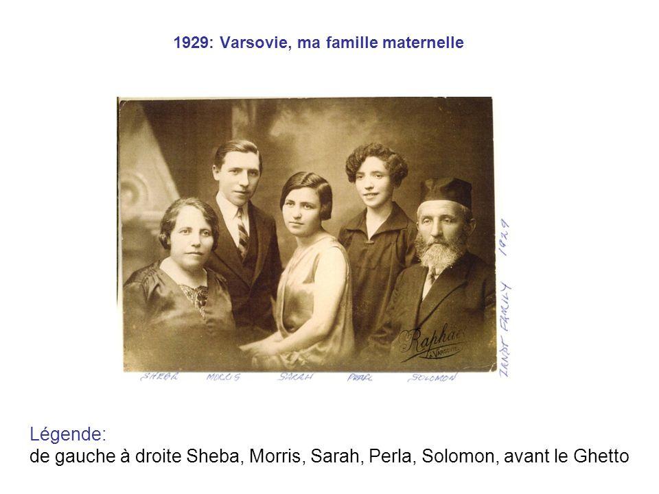 1929: Varsovie, ma famille maternelle